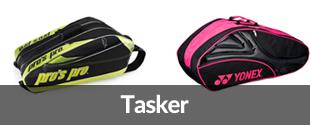 Badmintontasker fra Pro's Pro, Yonex og Babolat