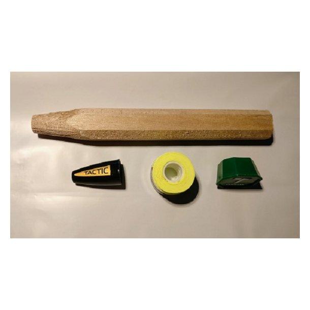 Håndtag til badminton ketcher, med top og bund