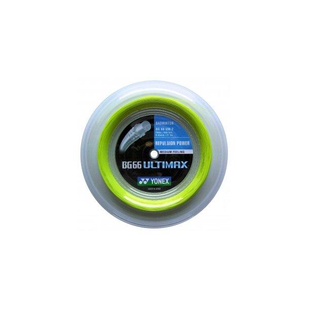 Yonex badminton streng. ---  BG 66 Ultimax, Gul - 200m