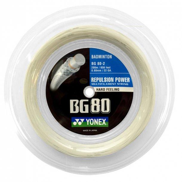 Yonex BG 80 Hvid,  - 579kr. - 200m.