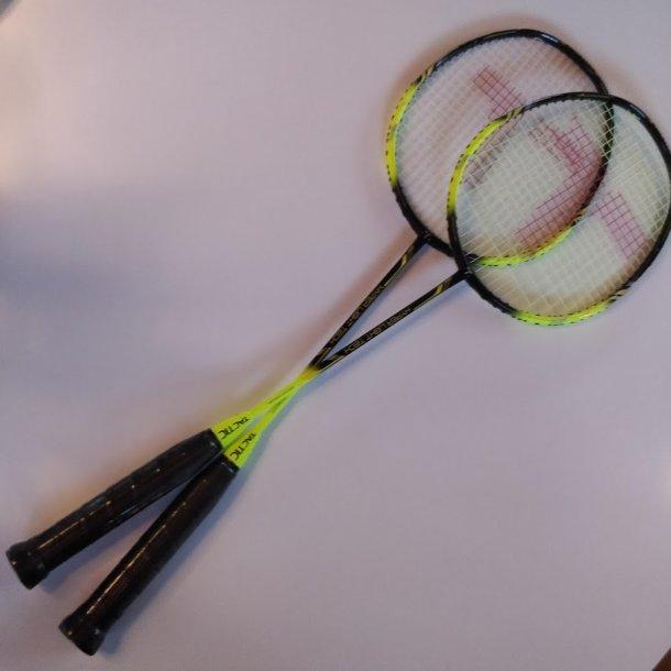 Badminton ketcher 2019- NEW HYBRID m/ fabrik streng.